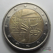 2 Euro Louis Braille 2009