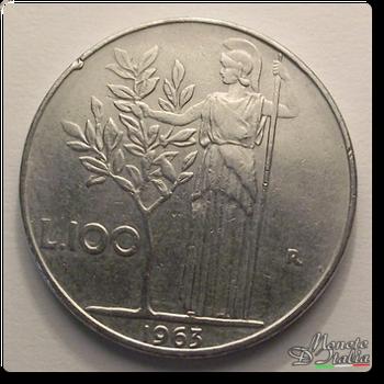 cebd258a93 Monete D'Italia: 100 Lire Minerva 1° tipo 1963